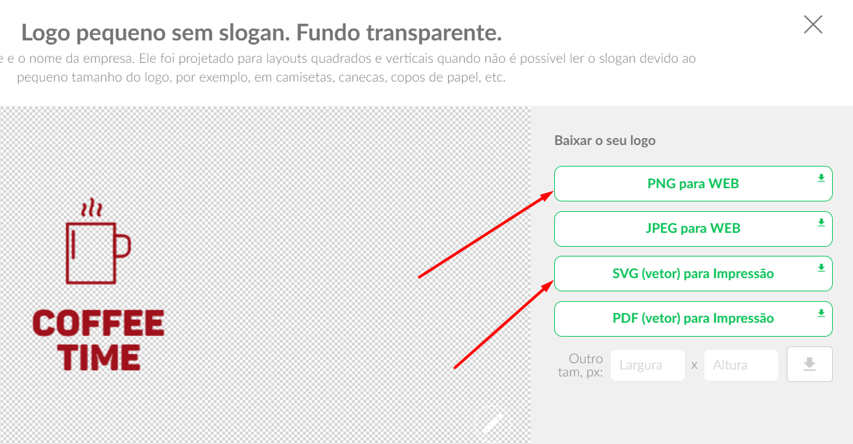 Download do logotipo em fundo transparente no PNG