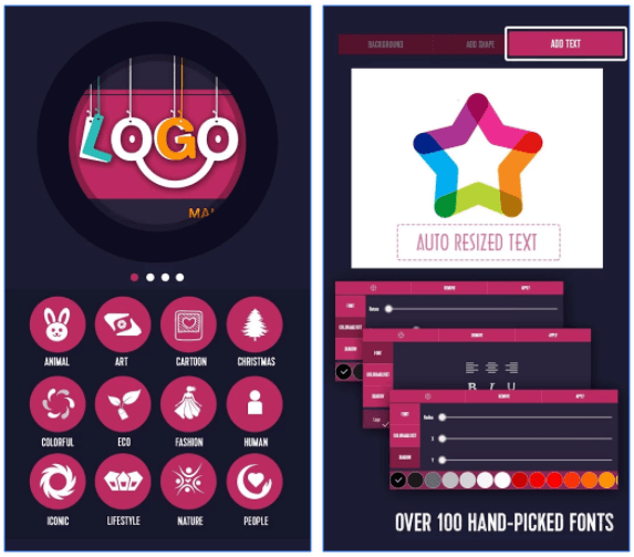 Logo maker App from creative lab