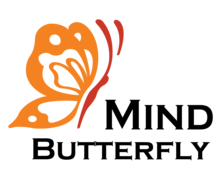 Butterfly Mind Logaster logo