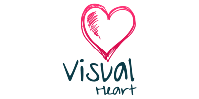 Visual Heart Logaster Logo